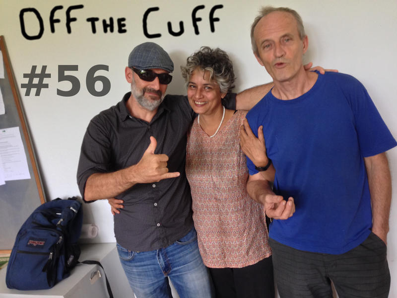 Photographer:Miriam | Off the Cuff team. From left: Andrea, Renu and Wazo
