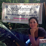 Melanie at Eco Femme stand at Youth Centre