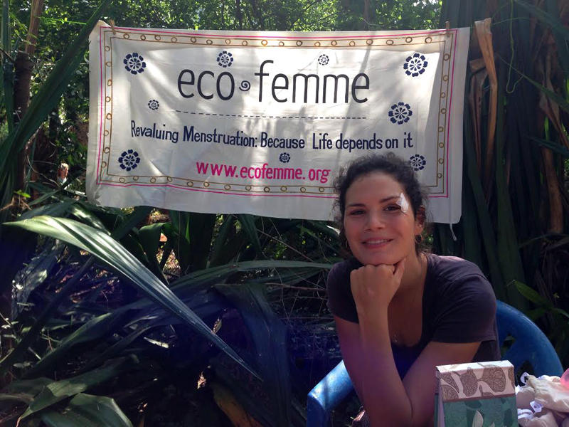 Photographer:The Unstitute | Melanie at Eco Femme stand at Youth Centre