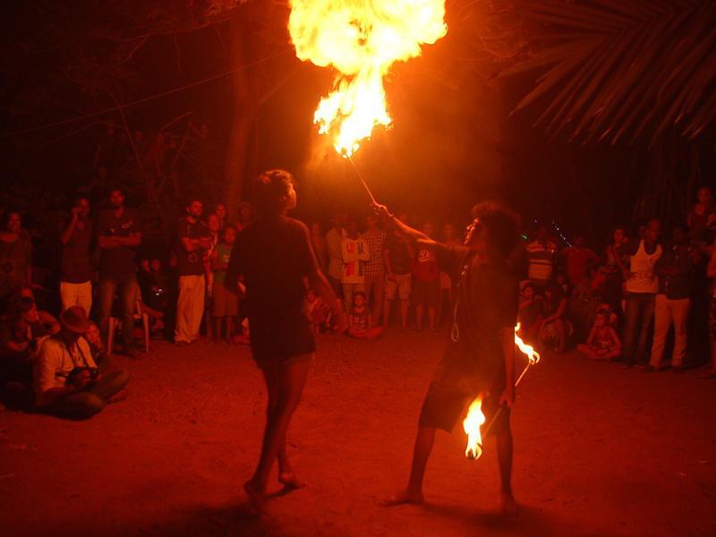 Photographer:Frida   Christmas Fair endet with spectacular fire arts.