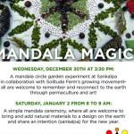 Mandala Magics, Wednesday 30th Sankalpa