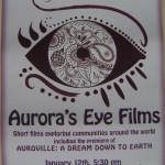 Aruora's Eye Films on 12th at 5.30pm at Kala Kendra