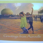 Greetings from Auroville - desing by Jasmine and Aravind