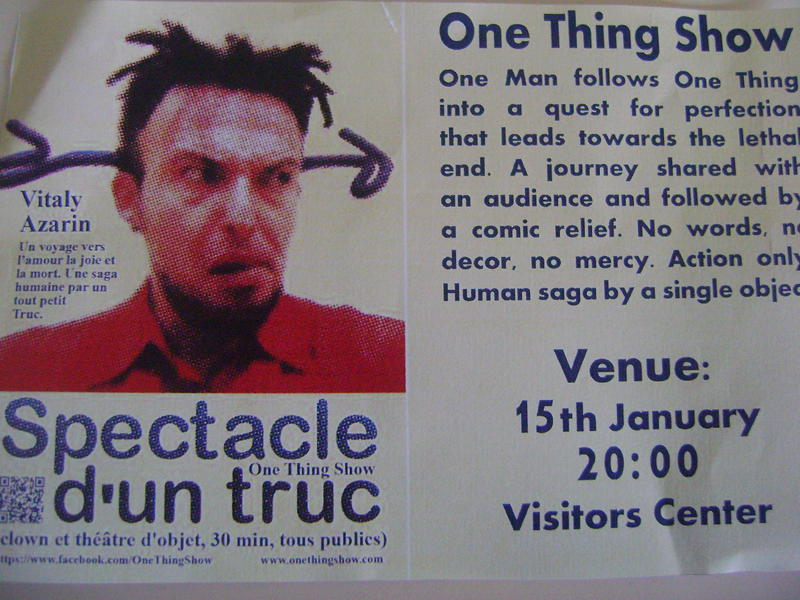 Photographer:Thea | Vitaly Azarin - One Thing Show, Friday at 8pm at VC