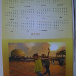 Greetings from Auroville - design by Jamsine and Aravinda