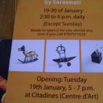 Saraswati exhibition at Citadine Centre d' Art