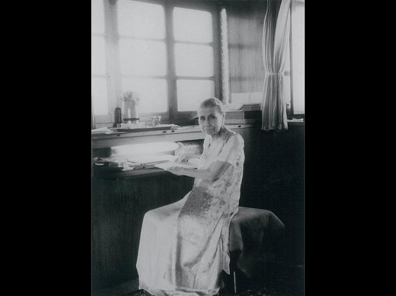 Photographer:Ashram Archives | Mother in her room, 22/1/60