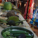 On some of the stalls, local farmers offered vegetables