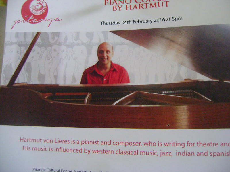 Photographer:Lana | Hsrtmut piano concert tonight at 8pm at Pitanga