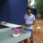 Marugam with his practical project