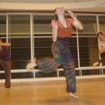 An African Limbo dance