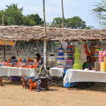 Stalls at the village heritage festival