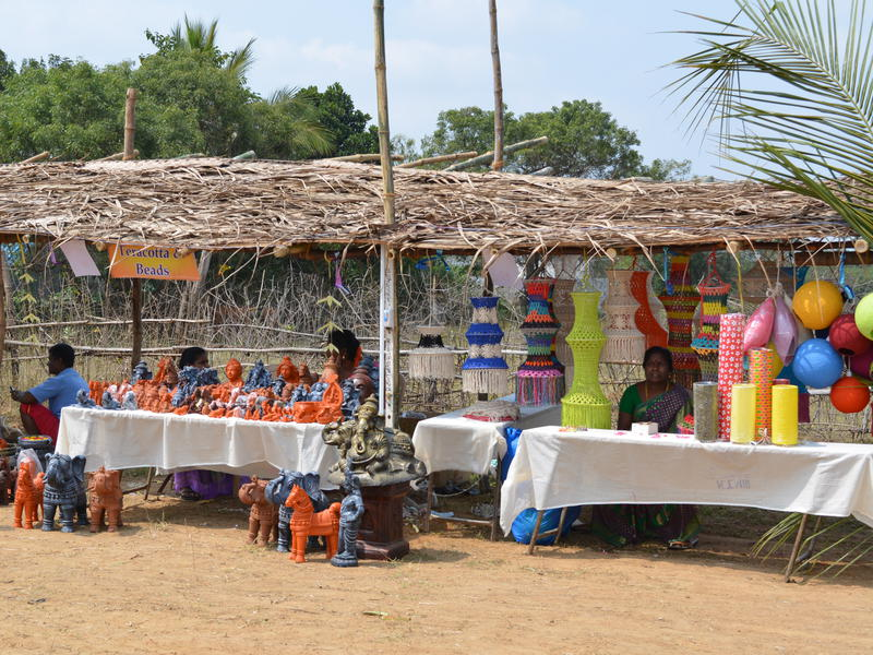 Photographer:Gajalakshmi.C | Stalls at the village heritage festival