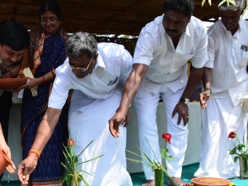 Photographer:Gajalakshmi.C | Chief Guest MLA, doing one of our cultural process