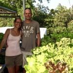Akash and Monica in an roof top farm