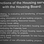 Functions of the Housing service