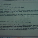 One letter Sacred Groves got from the Housing service