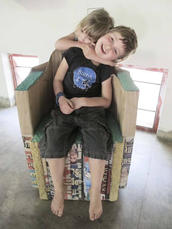 Photographer:Nathalie N | Tetrapack and papier mache chair