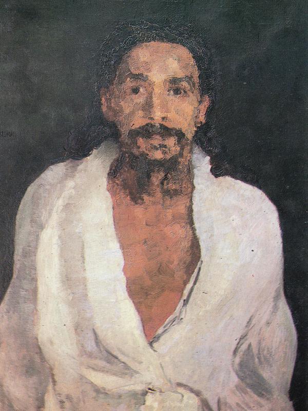 Photographer:AV Archives   Painting of Sri Aurobindo by J. Hohlenberg