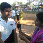 Anirudh, rider from ECE Banglore being interviewed by Lulu