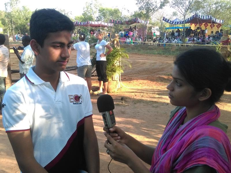 Photographer:Stephen Anurag P | Anirudh, rider from ECE Banglore being interviewed by Lulu