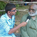 LamaShri, a resident of Auroville and native of Bihar sharing his experience with Stephen