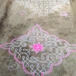 Kolam art by localities of Auroville