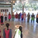 Circle dance being perform ed at Sawchu Building, Bharat Nivas