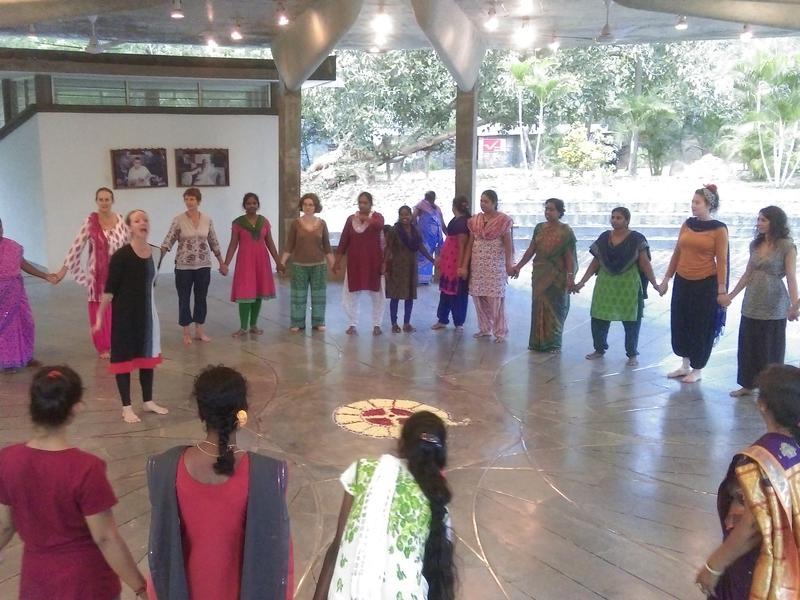 Photographer:Stephen Anurag P | Circle dance being perform ed at Sawchu Building, Bharat Nivas