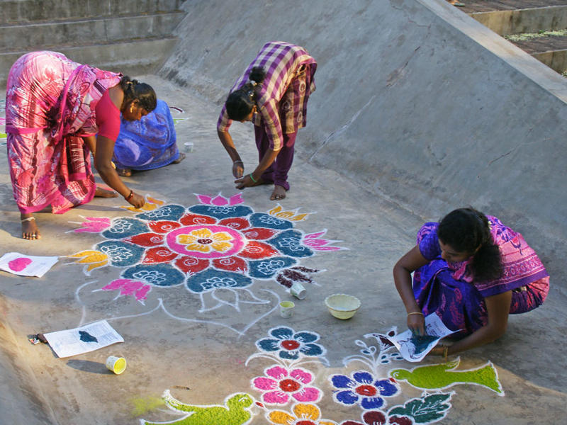 Photographer:Stephen Anurag P | Land painting by the participants