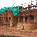 The main construction site: Ecological Moodhouse (Nov)