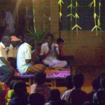 Theru Koothu - scene from Mahabharata - attentive audience and the band