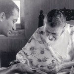 Mother with Anil Jauhar, 4/12/66