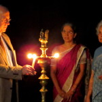 Lighting the lamp at the closing ceremony