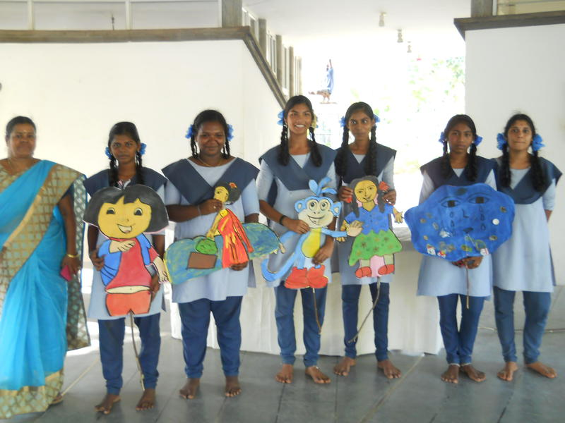 Photographer:Stephen Anurag P | Girls Government School students, Pondicherry