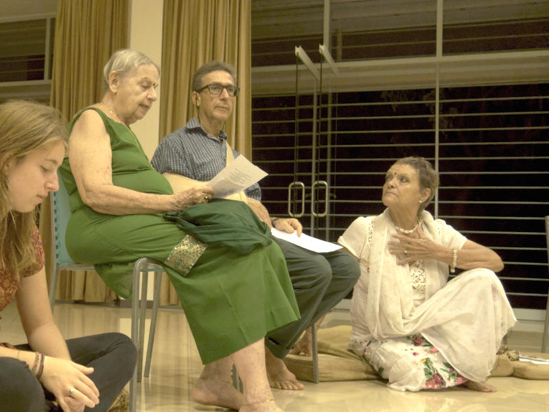 Photographer:The Unstitute | Mira reading Sri Aurobindo poem