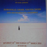 The Peacemakers - Auroville Choirs on 26th and 27th