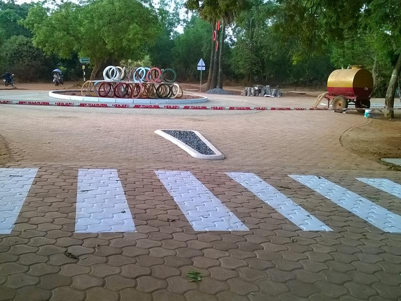Photographer:Lana | new roundabout at Solar Kitchen with art installation - towrds completition