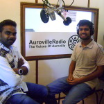 Stephen Anurag interviewing David at the Radio station, Auroville