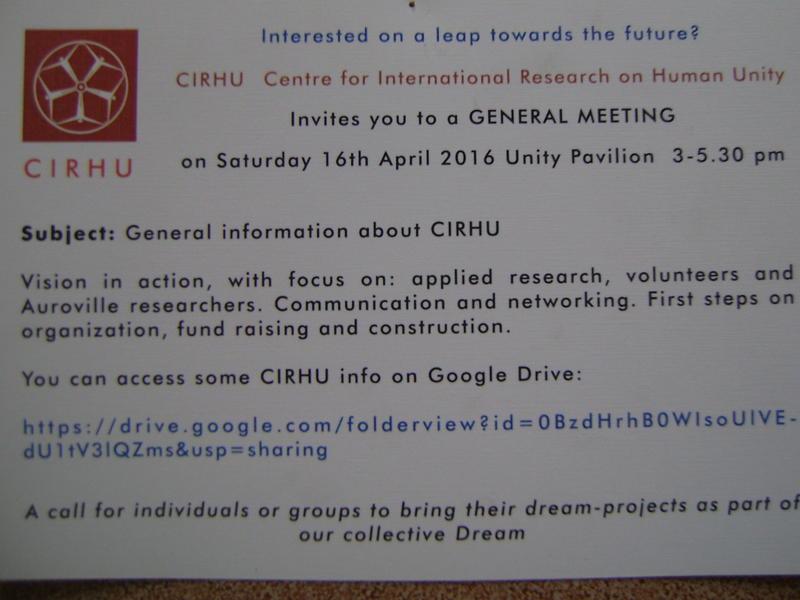 Photographer:web | CIRHU GM on 16th at 3pm at UP