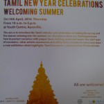 Tamil New Year at Youth Centre and SAWCHU