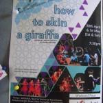 How to Skin a Giraffe on Saturday and Sunday at 7.30pm at Adishakti