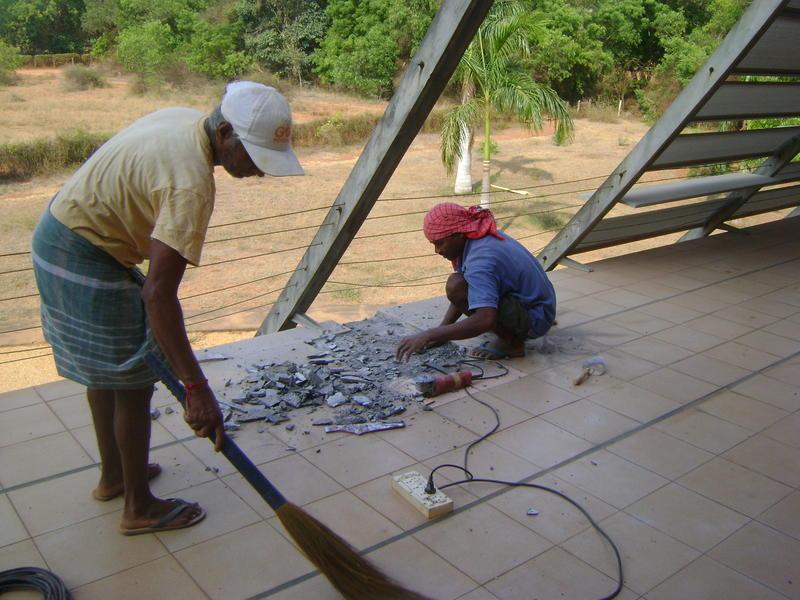 Photographer:Ziva | summer repairs at Town Hall