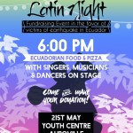 Latin Night at Youth Centre on 21st