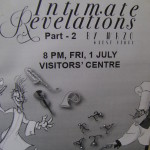 Intimate Revelation by Wazo on Friday 1st at Visitors' Centre