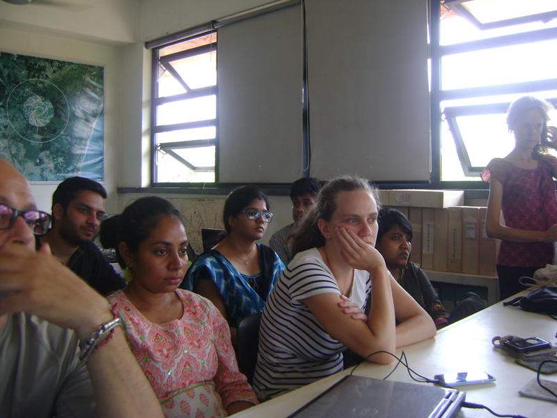 Photographer:Stephen Anurag P | Research scholars, students, interns and visitors participate in the conversation