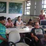 Research scholars, students, interns and visitors participate in the conversation