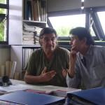 Luigi and Bhagwandas share the stage