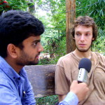 Josh, an American and a pre-new comer at Auroville giving his views on the Youth Centre
