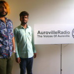 Stephen and Sachin pose at the Auroville Radio station